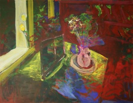Stůl IX, 140 x 180 cm, akryl na plátně