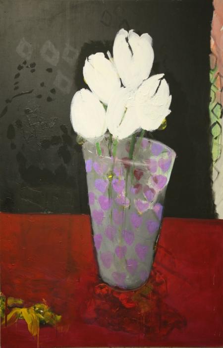 Svatební kytice, 200 x 140 cm, akryl na plátně