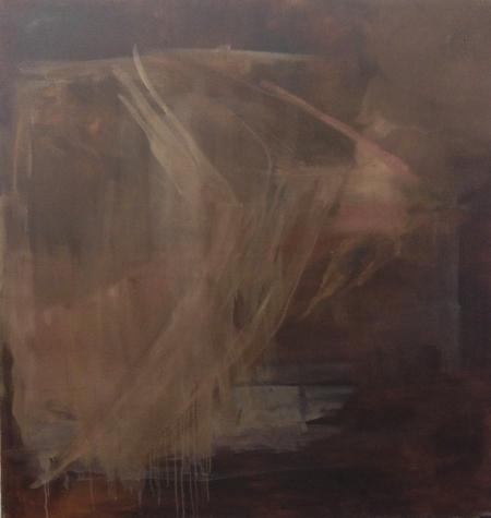 Trávy II, 125 x 120 cm, olej na plátně
